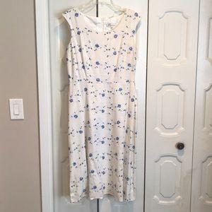 Dressbarn Embroidered Dress